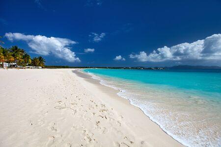 anguilla: Beautiful tropical beach on Anguilla island, Caribbean