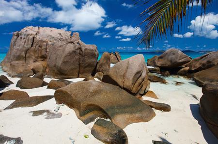 unspoilt: Stunning view of idyllic beach on Seychelles