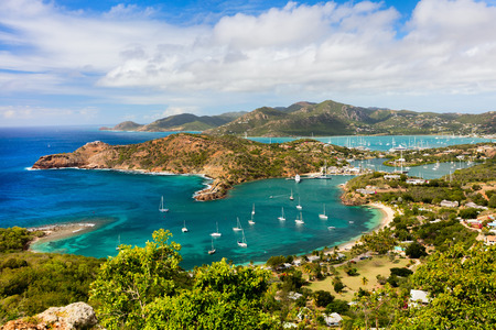 antigua: View of English Harbor in Antigua from Shirley Heights