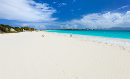 Beautiful tropical beach at Anguilla, Caribbean photo