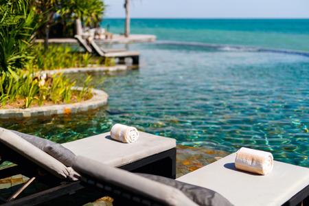 Beautiful swimming pool in luxury resort
