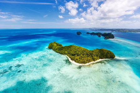 landscape: Beautiful view of Palau islands from above
