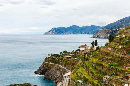 Scenic view of Manarola village, Cinque Terre, Italy