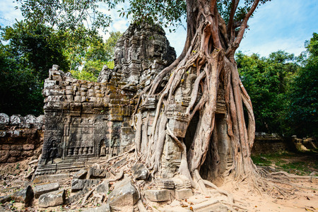 Ta Som jungle temple in Angkor Archeological area in Cambodia