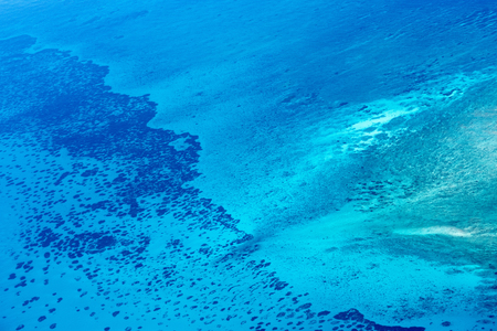 Beautiful view of Quirimbas archipilago in Mozambique from above Stock Photo