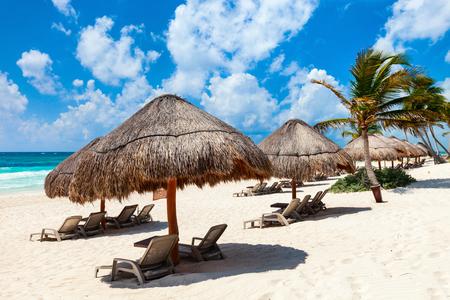 トゥルムメキシコの美しいカリブ海沿岸 写真素材