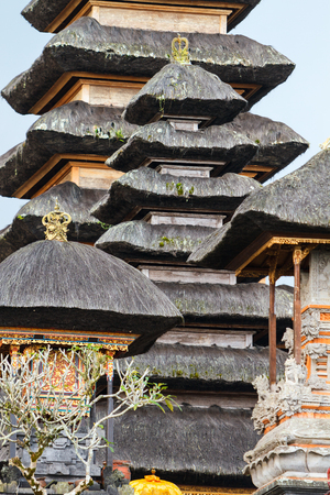 Unique traditional temple roof in Bali Indonesia