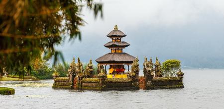 Beautiful Bali water temple at Bratan lake