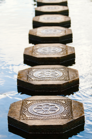 Beautiful water platform details in Bali Indonesia