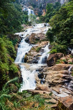Ravana Ella waterfalls is a popular sightseeing attraction in Sri Lanka Stok Fotoğraf