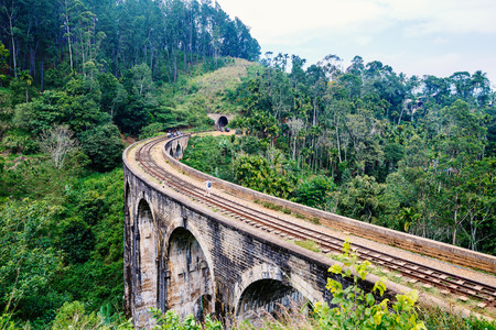 Spectacular view over Nine Arches bridge in Demodara one of the iconic landmarks in Sri Lanka