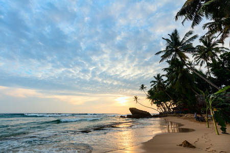 Landscape of exotic beach in Sri Lanka