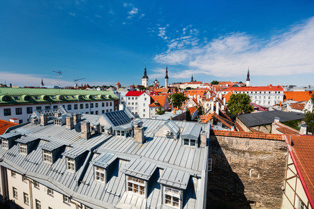 Roofs of historical center of Tallinn in Estonia