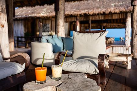 Beautiful lounge area in luxury resort