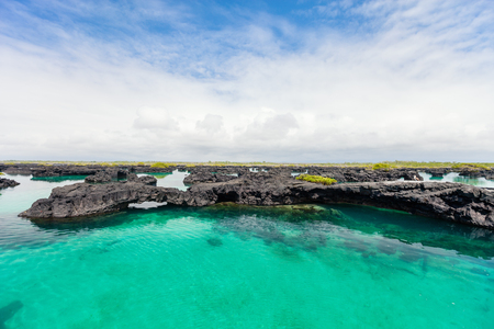 Landscape of Los Tuneles Galapagos islands