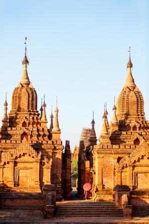 Historic buddhist pagoda in Bagan Myanmar