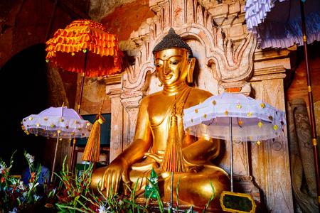 Buddha statue in Bagan pagoda in Myanmar