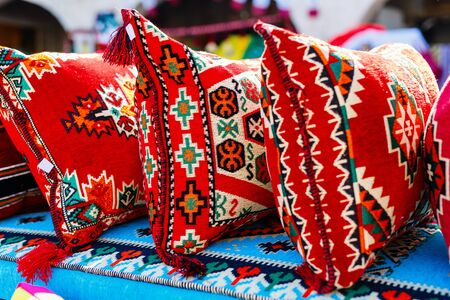 Pillows for sale at market in Doha Qatar