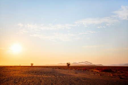 Beautiful landscape of Namib desert at sunrise Zdjęcie Seryjne
