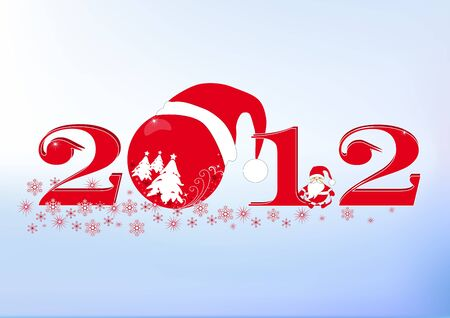 The stylized New Year Stock Vector - 10719428