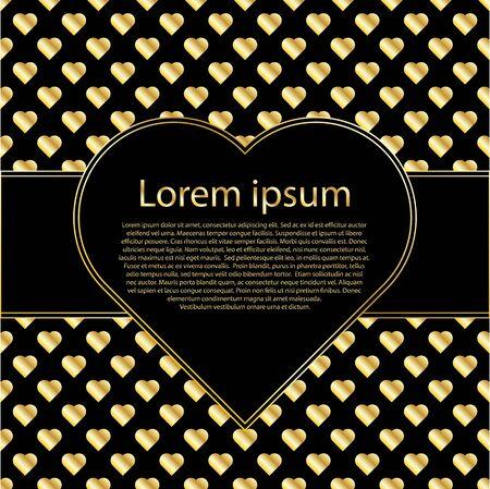 luxo: Cartões românticos ou convites para Dia dos Namorados, casamento, Dia da Mãe com quadro de texto