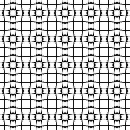 Abstract pattern vector, retro black and white texture Illustration