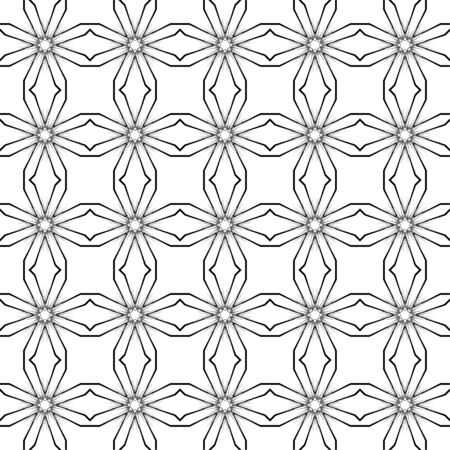 entropy: Abstract background. Vector seamless pattern. Black and white geometric seamless pattern Illustration