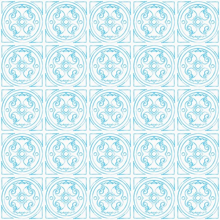Vector seamless hand draw venetian background. Sky blue pattern on white background Illustration
