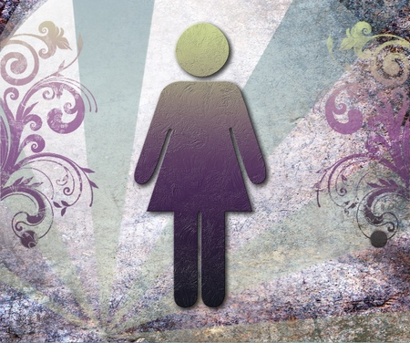 wc: Sign of public toilets WC for women