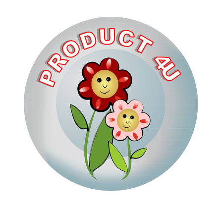 recommendations: Label product recommendations, inscription product for you stylized as 4U Stock Photo