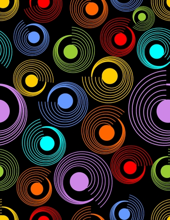 varied: Modern abstract seamless background with rainbow patterns on the dark area