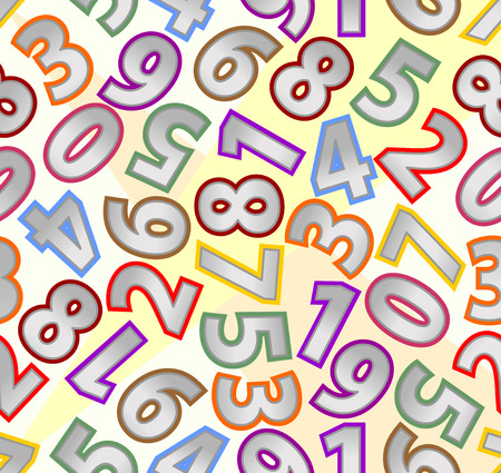 metallic background: Seamless background with metallic numbers