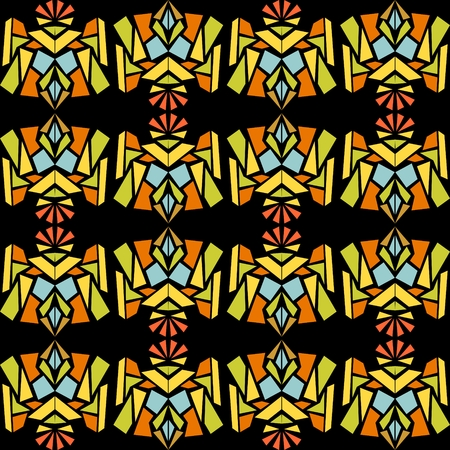 contrasting: Seamless abstract contrasting pattern in indian style