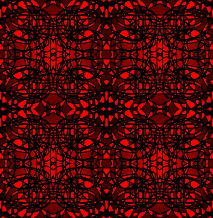 contrasting: Strong contrasting mosaic tile composed of black and red shards Illustration