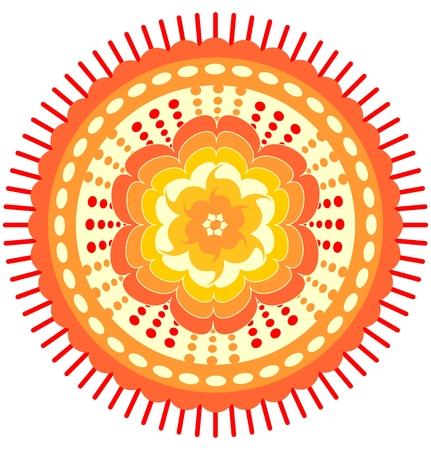 obtaining: Circle orange mandala for energy obtaining