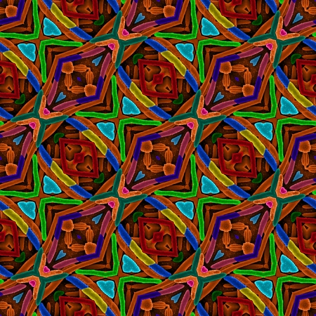 patterning: Colorful background in the style of oriental carpets with a diagonal patterning
