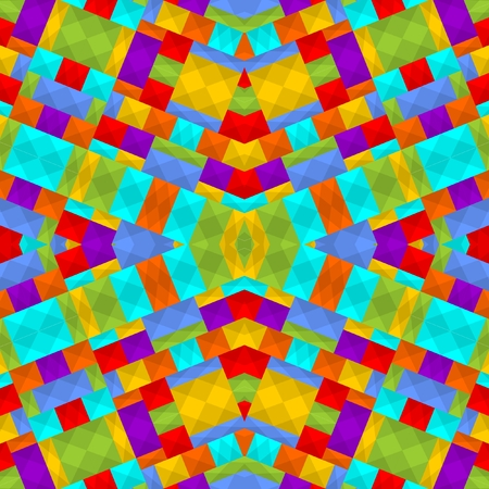 gaily: Modern gaily colored background tile in rainbow colors composed of small squares