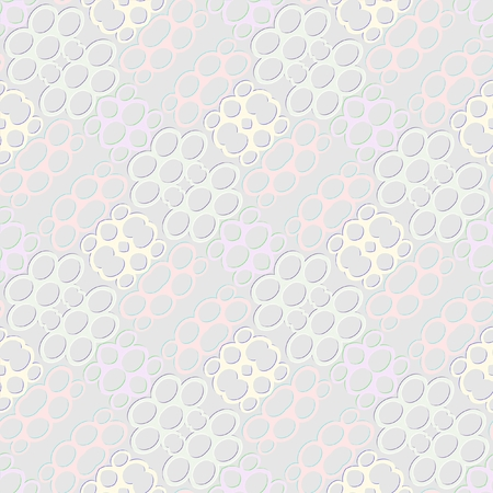 contrasting: Decorative background tile with low contrasting diagonal patterns composed of oval elements Stock Photo