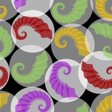 grub: Abstract seamless phantasy background with grubs in translucent circles