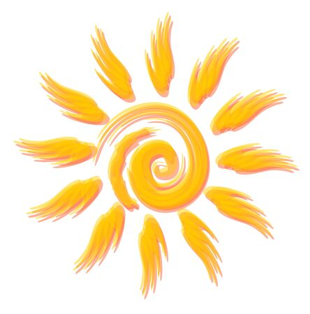 optimistic: Merry optimistic sun vector style watercolours. Beautiful symbol for travel flyer Illustration