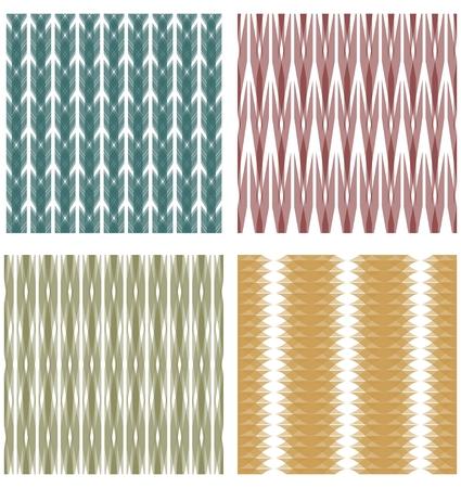 strip design: Set of tiles in strip design with transparency effect Illustration