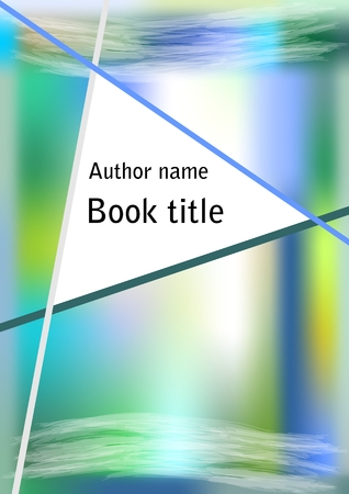 Book cover in modern abstract blue green design with triangle