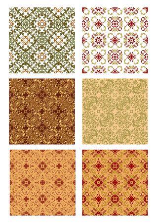 art deco background: Set of vintage art deco background decorative tile