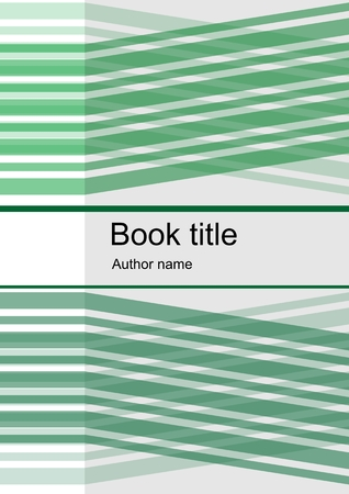 angled: Abstract template design for book, leaflet, flyer, report with green  angled stripes