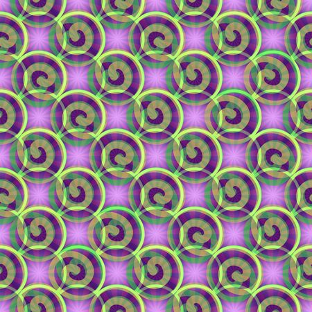 slantwise: Abstract background with spiral and star elements in purple and green