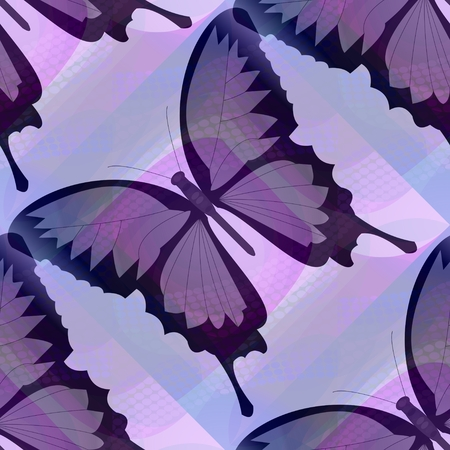 smudge: Abstract purple background with butterfly on purple smudge area