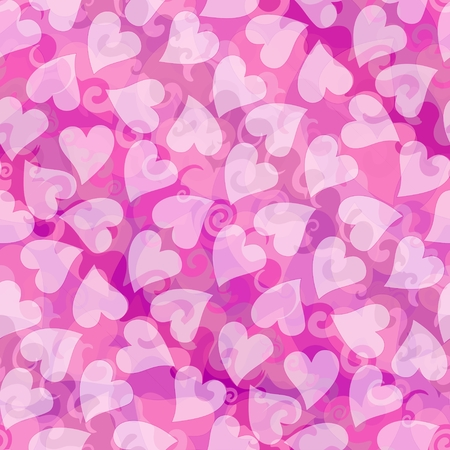 corazon: Valentines day romantic heart background in pink. Wedding decoration tile with love motif,