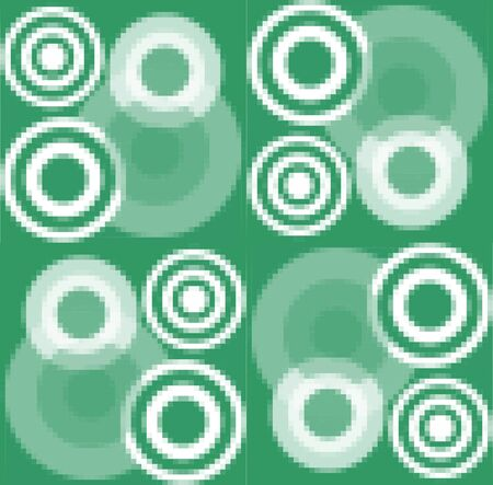 pixelated: Modern pixelated background with white concentric circle elements Illustration