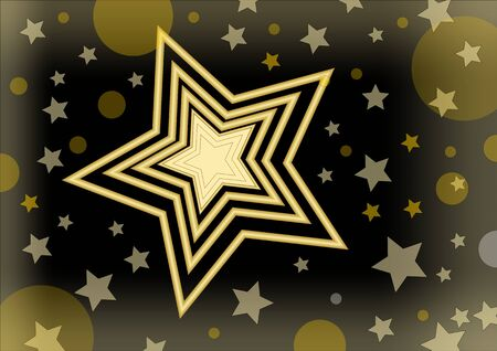 lucero: Christmas vector background with a bright star in the middle of small stars and glare