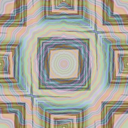 gritty: Square gritty patterns overlapping of blurry concentric circle patterns in soft pastel colors
